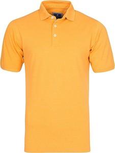Żółta koszulka polo Redmond z krótkim rękawem z bawełny