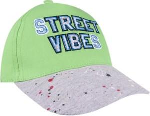 Zielona czapka yoclub z bawełny
