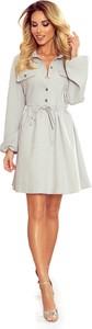 Sukienka Ptakmoda.com mini z kołnierzykiem szmizjerka