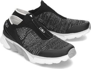 Czarne buty sportowe CMP sznurowane w sportowym stylu