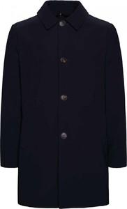 Niebieski płaszcz męski Rrd