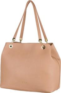 Brązowa torebka PUCCINI ze skóry ekologicznej na ramię matowa