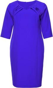 Niebieska sukienka modneduzerozmiary.pl dla puszystych