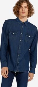 Niebieska koszula Wrangler z długim rękawem