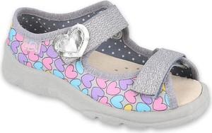Buty dziecięce letnie Befado dla dziewczynek ze skóry