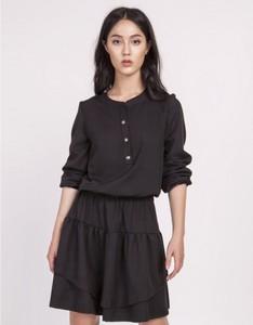 Czarna sukienka Lanti z długim rękawem mini