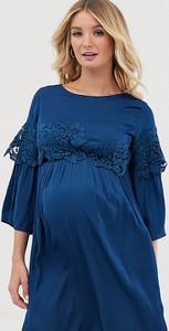 Niebieska sukienka Mama Licious