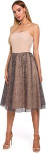 Sukienka MOE gorsetowa z tkaniny midi