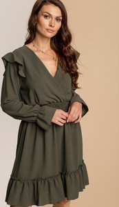 Zielona sukienka Renee z dekoltem w kształcie litery v