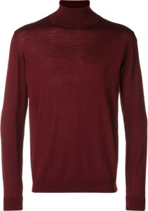 Fioletowy sweter Roberto Collina w stylu casual z wełny