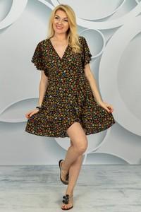 Sukienka Made in Italy z dekoltem w kształcie litery v z krótkim rękawem w stylu casual