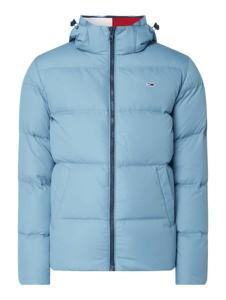 Niebieska kurtka Tommy Jeans w młodzieżowym stylu