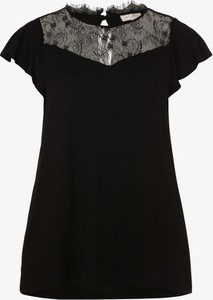 Czarny t-shirt ONLY Carmakoma z okrągłym dekoltem