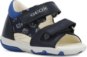 Granatowe buty dziecięce letnie Geox na rzepy ze skóry