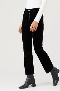 Czarne spodnie V by Very ze sztruksu