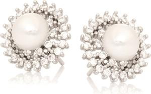 ANIA KRUK Kolczyki CEREMONY srebrne z cyrkoniami i perłą