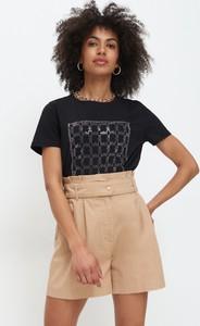 T-shirt Mohito z okrągłym dekoltem z krótkim rękawem z bawełny