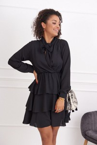 Sukienka Fasardi z długim rękawem mini