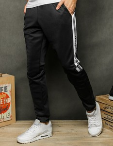 Spodnie sportowe Dstreet z nadrukiem z bawełny
