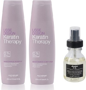 Alfaparf Milano Alfaparf Keratin Therapy Maintenance and OI Oil | Zestaw do wygładzenia i regeneracji: szampon i odżywka 250ml + olejek do włosów 50ml - Wysyłka w 24H!