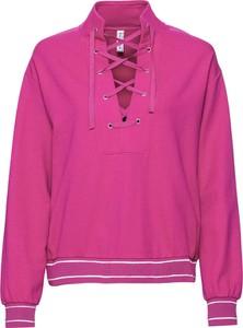 Różowa bluza bonprix RAINBOW