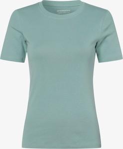 Zielony t-shirt brookshire z okrągłym dekoltem w stylu casual z krótkim rękawem