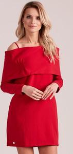 Czerwona sukienka Sheandher.pl w stylu casual mini hiszpanka