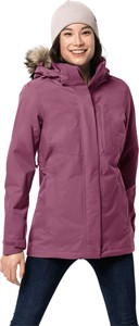 Fioletowy płaszcz Jack Wolfskin z plaru