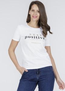 T-shirt Cross Jeans z krótkim rękawem w młodzieżowym stylu z okrągłym dekoltem