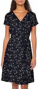 Sukienka amazon.de w stylu casual z krótkim rękawem z dekoltem w kształcie litery v