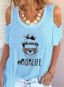 Niebieska bluzka Sandbella w młodzieżowym stylu