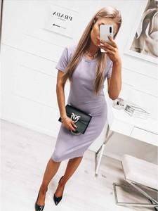 Sukienka magmac.pl z bawełny z krótkim rękawem midi