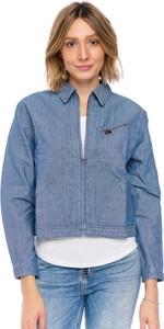 Niebieska kurtka Lee bez kaptura z jeansu w stylu casual
