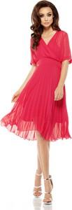 Czerwona sukienka Lemoniade z krótkim rękawem