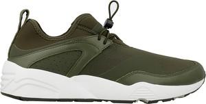 Zielone buty sportowe Puma w młodzieżowym stylu