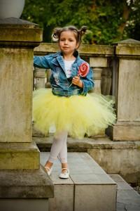 Żółta spódniczka dziewczęca Piccolino z tiulu