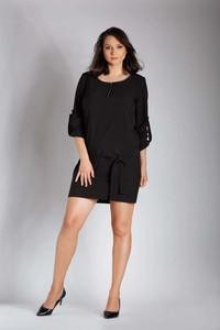 Czarna sukienka Nommo mini z długim rękawem