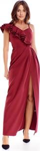 Sukienka Ptakmoda.com z dekoltem w kształcie litery v kopertowa