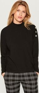 Czarny sweter Mohito w stylu casual z dzianiny