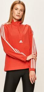 Kurtka Adidas Performance w sportowym stylu z tkaniny krótka