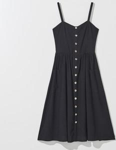 Czarna sukienka Mohito rozkloszowana mini