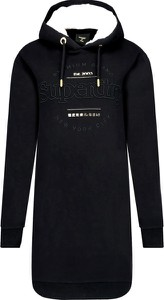 Czarna sukienka Superdry mini w stylu casual