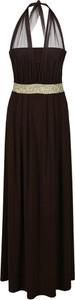 Sukienka Fokus rozkloszowana z dekoltem w kształcie litery v w stylu glamour