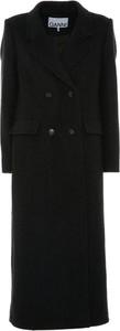 Czarny płaszcz Ganni w stylu casual