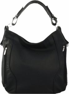 Czarna torebka TrendyTorebki w stylu glamour matowa