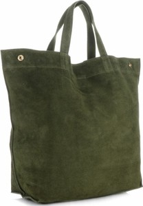 Zielona torebka Vera Pelle duża w stylu casual