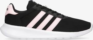 Czarne buty sportowe Adidas w sportowym stylu sznurowane z płaską podeszwą