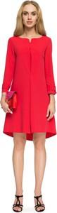 Sukienka Style z dekoltem w łódkę z długim rękawem