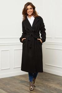 Czarny płaszcz Joséfine w stylu casual