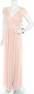 Różowa sukienka Adrianna Papell bez rękawów maxi